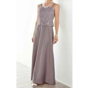 Alex Evenings Purple Sequined Dress-16